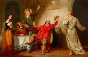 George Clint - Malvolio e sir toby ( a partir de William Shakespeare-s -Twelfth Night- , ato ii , Cena iii )