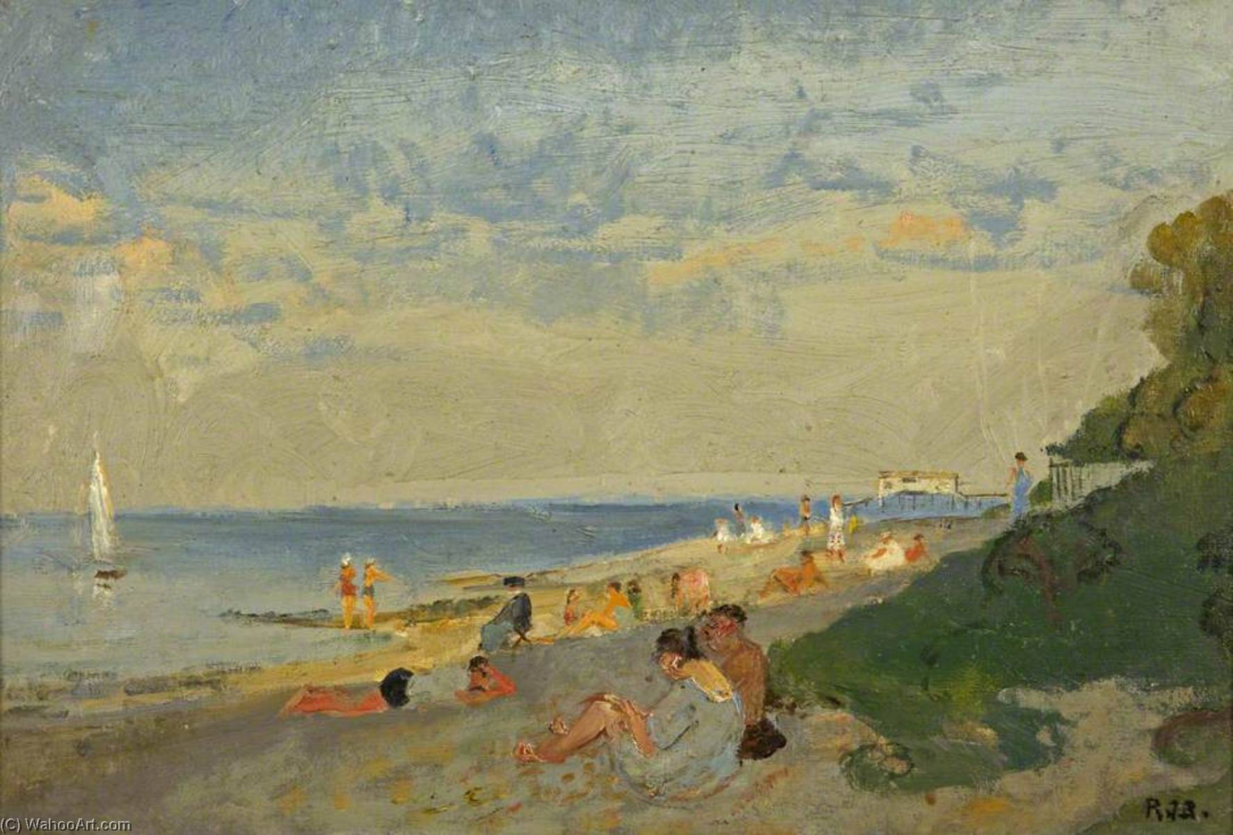Bembridge por Rodney Joseph Burn (1899-1984, United Kingdom) | Copy Pintura | ArtsDot.com