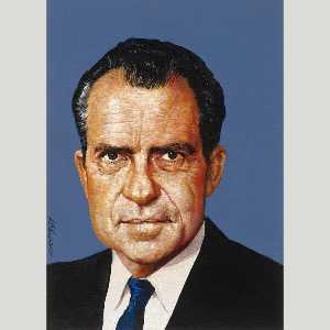 Louis S Glanzman - richard nixon
