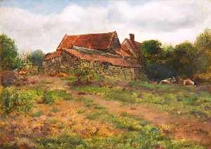 John Everett Millais - Paisagem , Hampstead