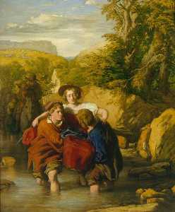 William Mulready The Younger - a ford ( -Crossing o Ford- )