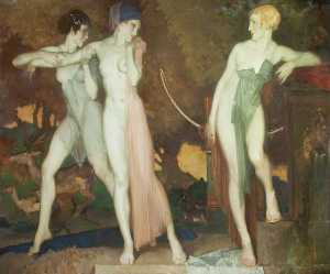 William Russell Flint - Artemisa e Chione