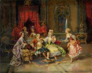 Cesare Augusto Detti - louis xv No sala do trono
