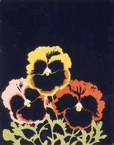 Joe Brainard - Três Pansies