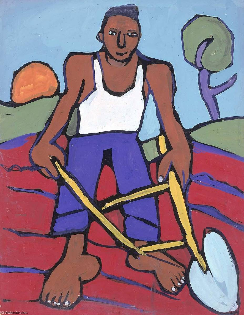 Ordem Copy Pintura : homem com Arar , 1939 por William Henry Johnson (1901-1970, United States) | ArtsDot.com