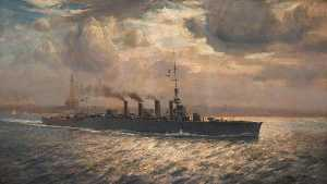 Arthur James Wetherall Bu.. - HMS 'Chester' no Mersey