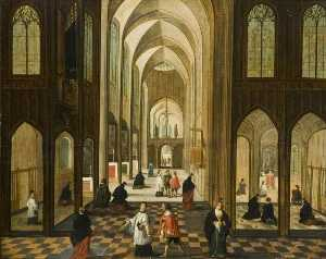 Peeter Neeffs The Younger - Catedral Interior