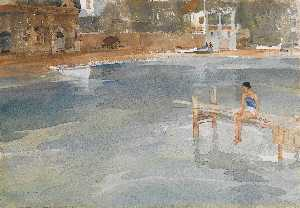 William Russell Flint - Stephanie's Molhe